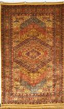 Tribal Ghashghaie Silk Persian Rug