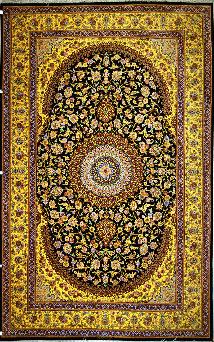 Qum Silk Persian Rug Item 1