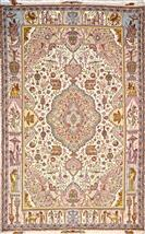 Signed by Master Weaver Gholi Nami Silk Persian Rug