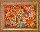 Heat of Love Silk Persian Tableau Rug (Pictorial Carpet)