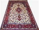 Super Fine Masterpiece Isfahan Tak Kheft Vegetable Dye Color Silk Persian Rug