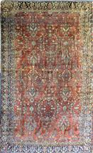 Sarough Mohajeran Semi Antique Wool Persian Rug