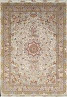 Masterpiece Shirfar 75 Raj Tabriz Persian Rug Silk Base Silk Persian Rug