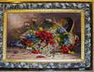 Basket of Flower Silk Persian Tableau Rug (Pictorial Carpet)