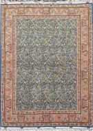 Grand Masterpiece All Over Paisley Tabriz 75 Raj Persian Rug Silk Persian Rug