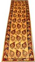 Shirvan Geometric Runner Wool Persian Rug