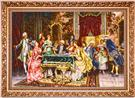 Arturo Ricci Card Players Wool Persian Tableau Rug (Pictorial Carpet)