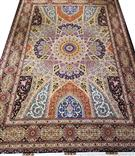 Royal Gonbad 9x12 Persian rug Silk Base Silk Persian Rug