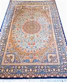 Royal Qom Pure Silk 7x10 superfine  Silk Persian Rug