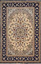 Superfine Isfahan Silk Base Rare design Silk Persian Rug