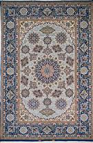 Superfine 70 raj Isfahan Bigdeli Tak Kheft Silk Persian Rug