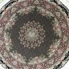 Fish Round 5x5 Wool Persian Rug