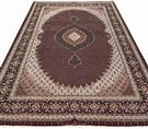 Masterpiece Fish Abdollahi Deep red 60  Raj Silk Persian Rug