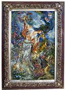 Niaz 5 Wool Persian Tableau Rug (Pictorial Carpet)
