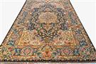 Master Salari Very Fine 60 Raj Tabriz Bold Multi  Color 7x10  Silk Persian Rug