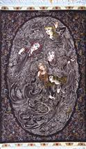 SUPERFINE RARE QOM FARSHCHIAN DESIGN PURE SILK Silk Persian Rug