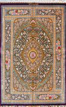Superfine by Moharreri 3x5 Qom Pure Silk Silk Persian Rug