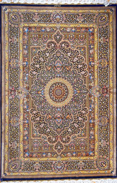 Jamshidi Design Qom Pure Silk Grand Masterpiece Silk Persian Rug