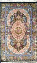 Qom Pure Silk Floral by Ezzati Silk Persian Rug