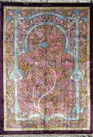 Rare Masterpiece by Eshaghi  Silk Persian Rug