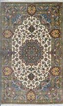 Masterpiece Qom Green Olive Color by Nasirian Silk Persian Rug