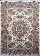 Khatibi 69 Raj Cream  Silk Persian Rug