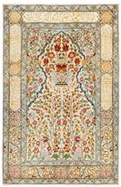 Silk Mehrabi Prayer Turkish  Silk Persian Rug