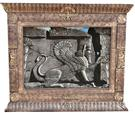 Lion Statue Pasargad Silk Persian Tableau Rug (Pictorial Carpet)