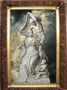 Goddess Statue Silk Persian Tableau Rug (Pictorial Carpet)