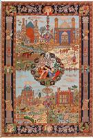 Famous Historical Figures & Places Silk Persian Rug