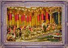 Queen Sheeba & King Solomon Silk Persian Tableau Rug (Pictorial Carpet)