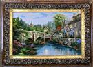Follow the river Silk Persian Tableau Rug (Pictorial Carpet)