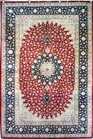 QUM Silk Carpet Silk Persian Rug