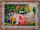 Swing Kissing Wool Persian Tableau Rug (Pictorial Carpet)