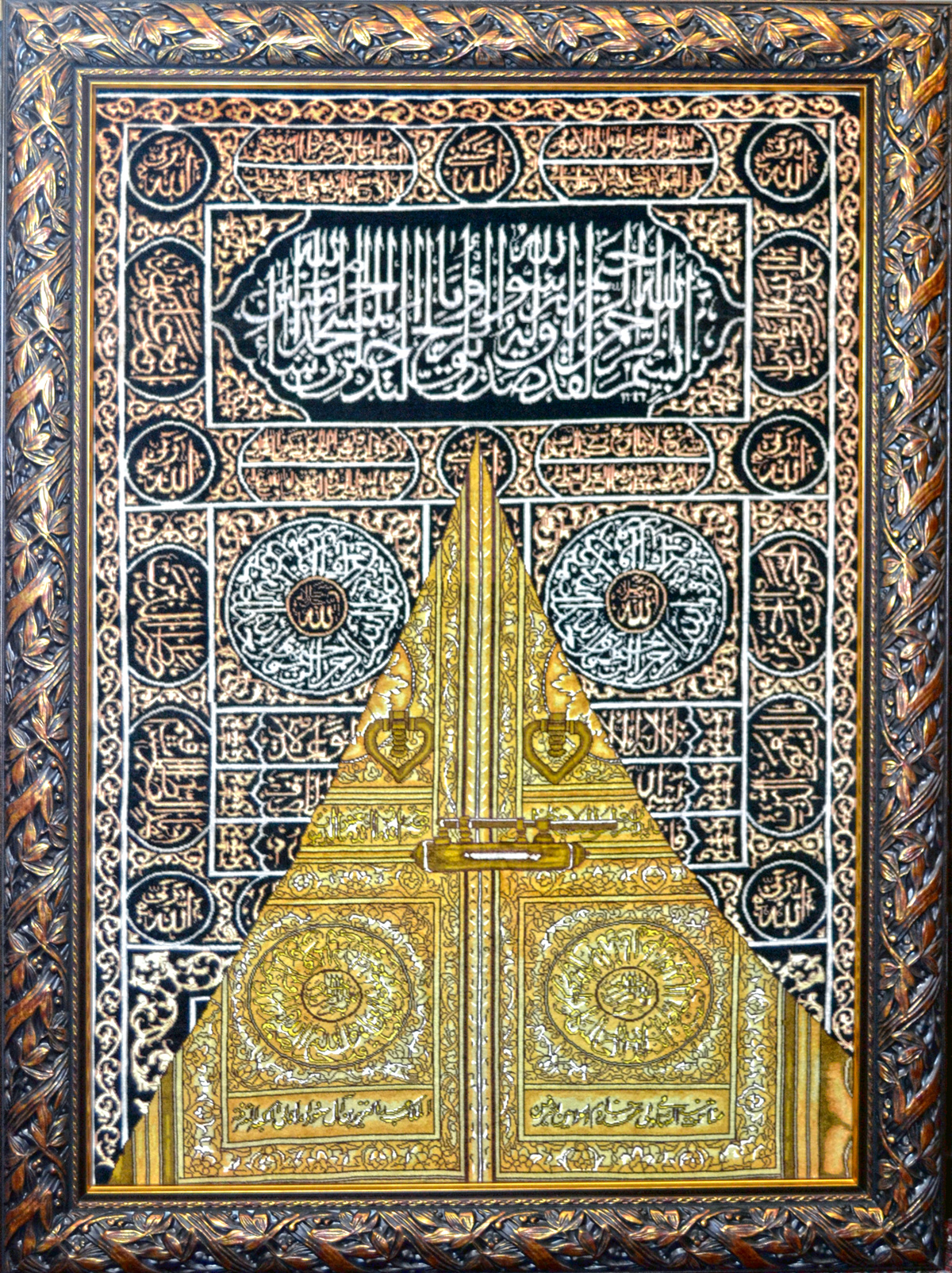 Kabah Door Wool Persian Tableau Rug Pictorial Carpet