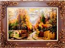 Autumn Field Silk Persian Tableau Rug (Pictorial Carpet)