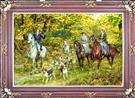 Hunting Scene Silk Persian Tableau Rug (Pictorial Carpet)