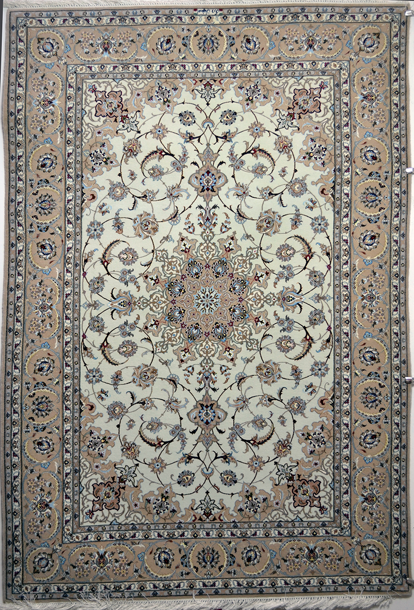 Isfahan Silk Persian Rug Item 608