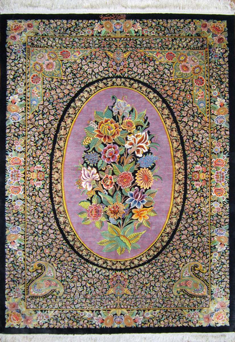 Qum Silk Persian Rug Item Cs Q10