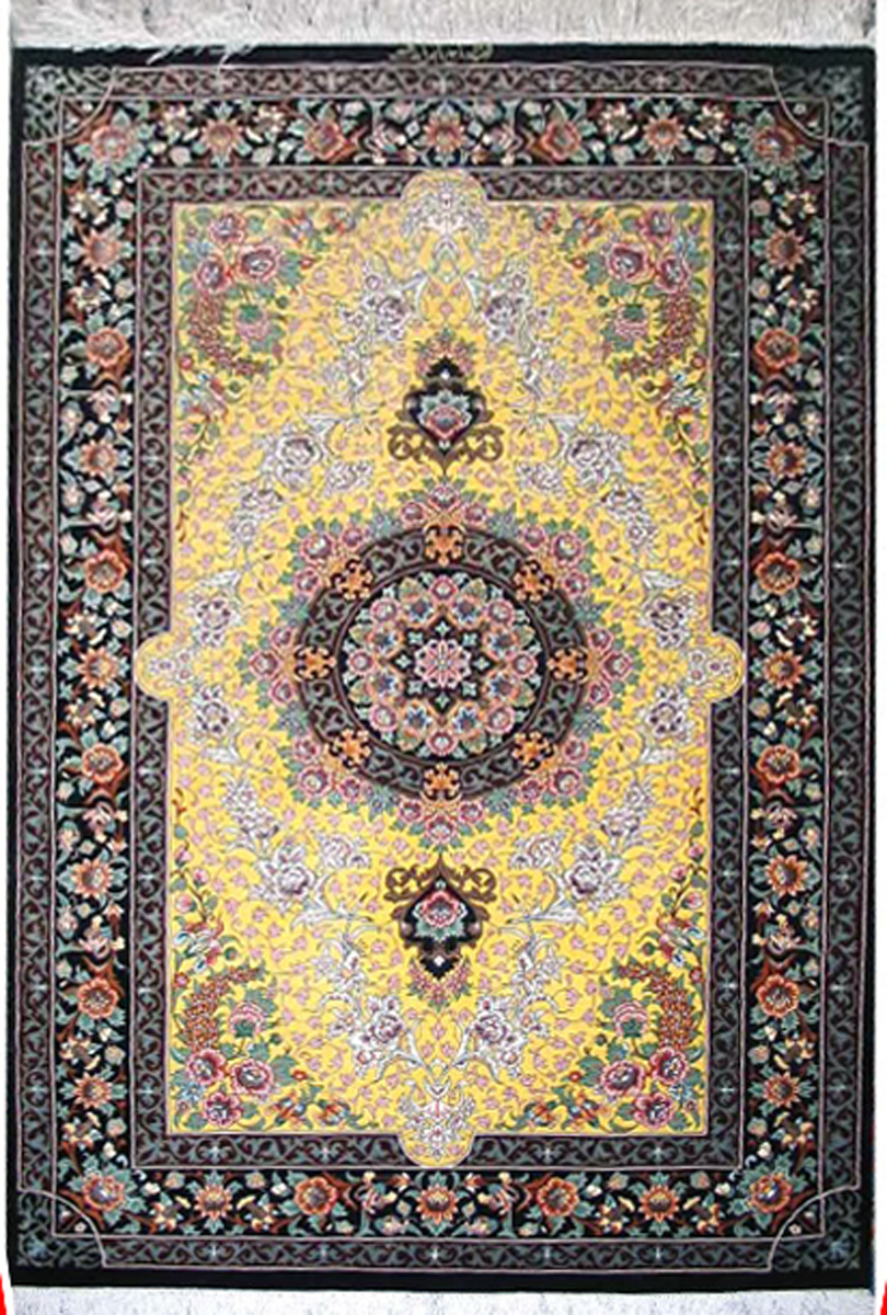 Qum Silk Persian Rug Item Cs Q12