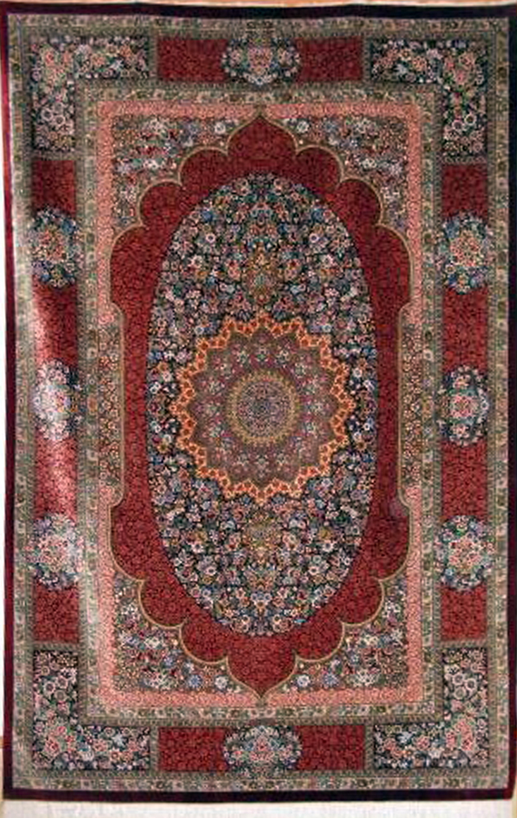 Qum Super Fine Silk Persian Rug Item Cs Q29