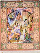 Joseph & Zuleika Silk Persian Tableau Rug (Pictorial Carpet)