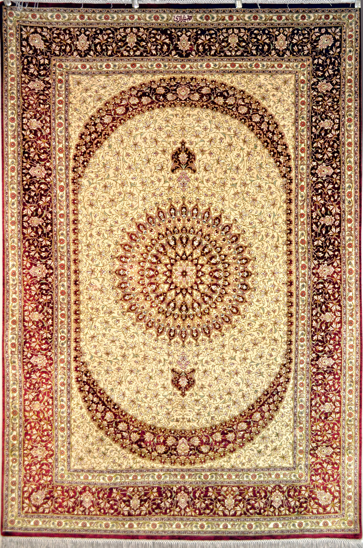 Qum Shirazi Silk Persian Rug Item Pa 359
