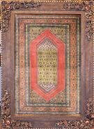 Qum Silk Persian Tableau Rug (Pictorial Carpet)