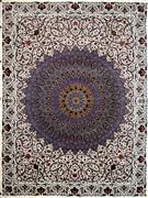 One of Kind Silk Persian Rug