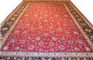 Red Mashhad Wool Persian Rug