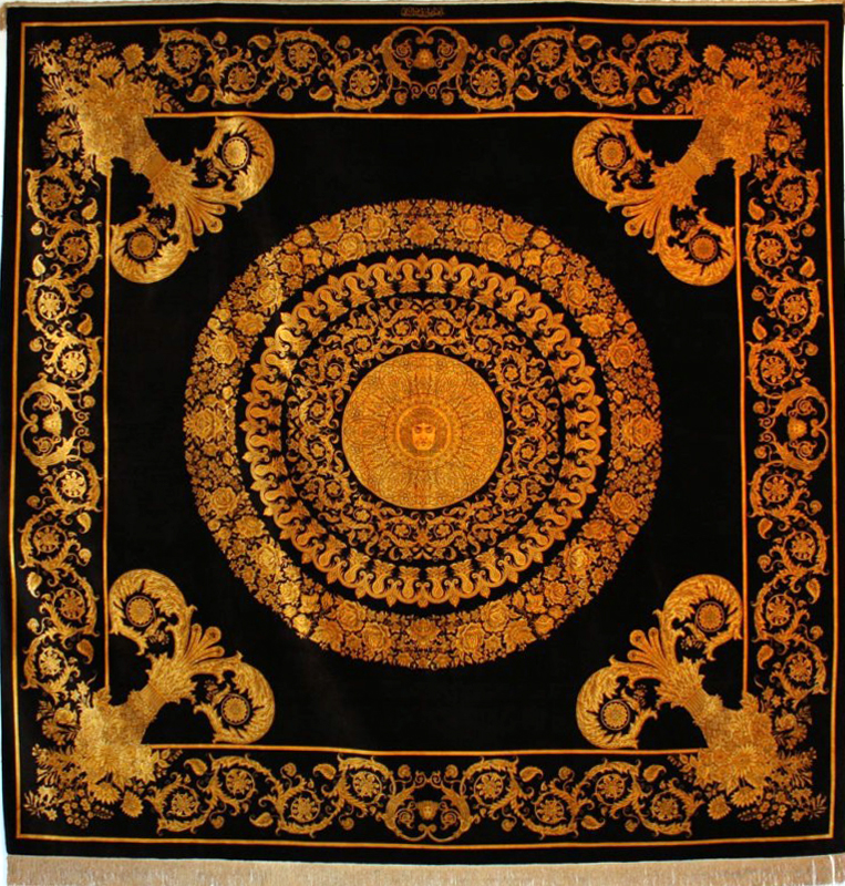 Qum Versace Square Silk Persian Rug Item Cs Q Er 1