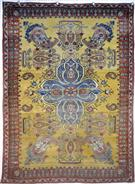 Antique Kashan Mohtasham Wool Persian Rug