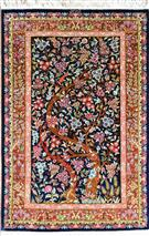 Qum Tree of Life Silk Persian Rug
