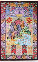 Qum Four Season Tree of Life Silk Persian Rug